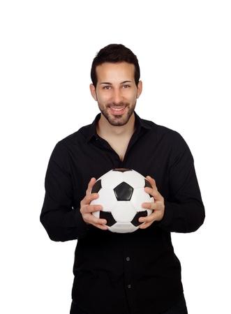 Football coach isolated on white background photo