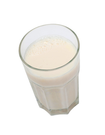 nutrient: Nutrient glass of milk isolated on white background