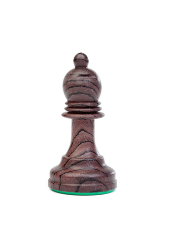 bishop: The black bishop. Chess pieces on the chessboard Stock Photo