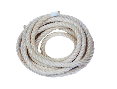 A rope isolated on a white background photo