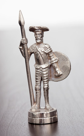literary: Silver figure of literary character Don Quixote
