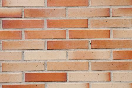 trim wall: Red brick wall as exterior trim option. Stock Photo