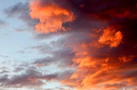 idyllic: Idyllic orange sky during a nice sunset