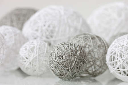 delicate: Delicate handmade balls with fine thread for decoration