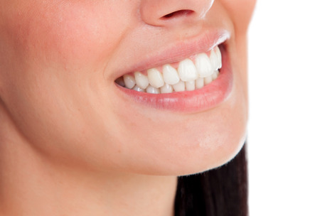 perfect smile: Perfect smile of a beautiful young woman. Teeth close