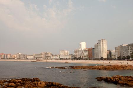 coastal city: Beautiful coastal city in northwestern Spain. La Coru�a