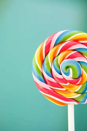 Nice round lollipop with many colors in a spiral