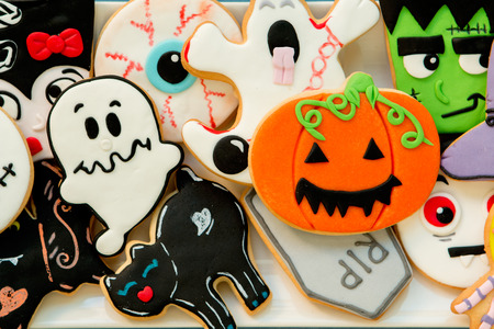 tumb: Halloween cookies with different shapes. Sweet tradition