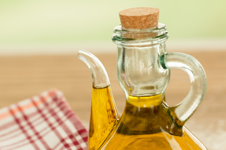 oilcan: Olive oil, an essential ingredient for Mediterranean cuisine Stock Photo