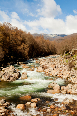 climatic: Nice course of a river down the mountain Stock Photo