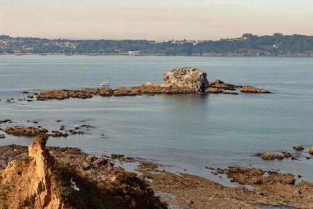 northwest: Islet on the northwest coast of Spain Stock Photo
