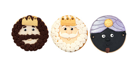 melchor: Funny cookie for Christmas isolated on a white background