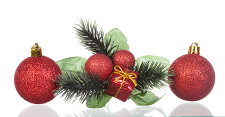 Typical Christmas decoration isolated on a whtie background Stock Photo