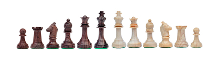 Chessmen isolated on a white background