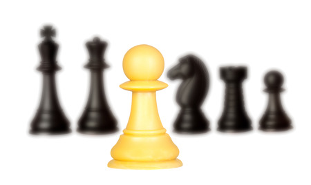 battle plan: Chessmen isolated on a white background