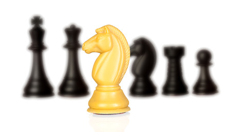 pawns: Chessmen isolated on a white background