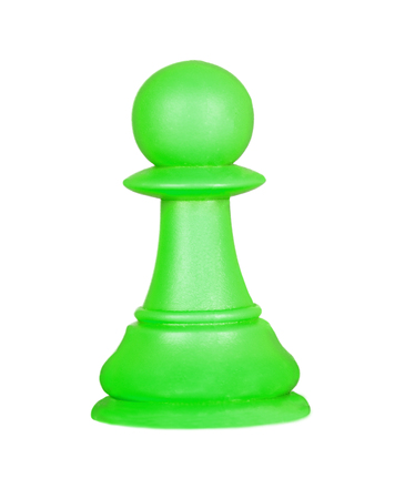 tactics: The pawn, chess piece isolated on a white background