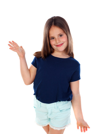 Happy girl isolated on a white background