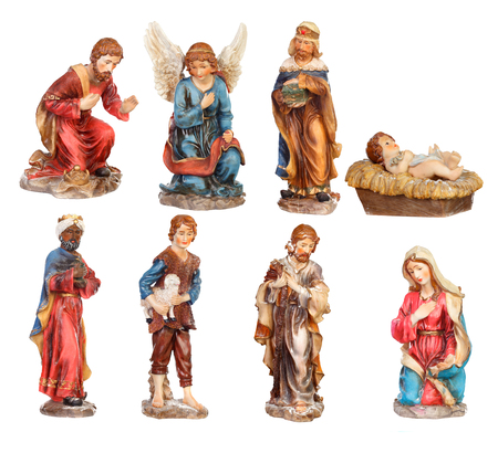 Image figures for the Nativity Portal isolated on a white background