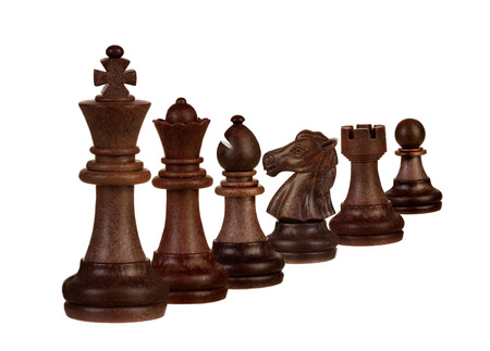 Chess figures isolated on a white background