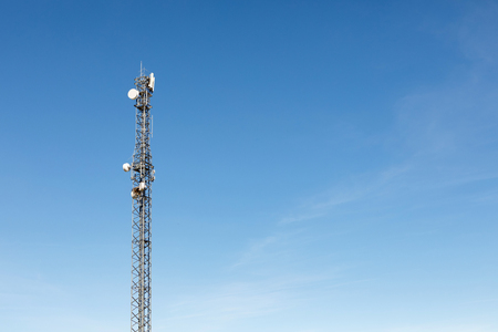 Very tall antenna tower for communication