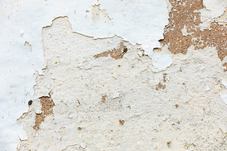 Wall cement surface with worn paint