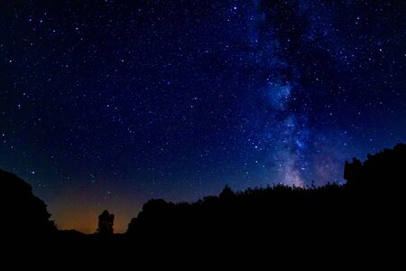 Milky Way in Spain during the summer. A beautiful night