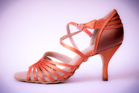 Ballroom and latin salsa dance shoe for ladies Stock Photo