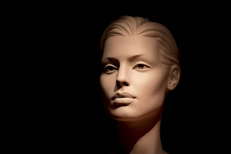 aucasian: Females Human Face Mannequin Doll View Profile.