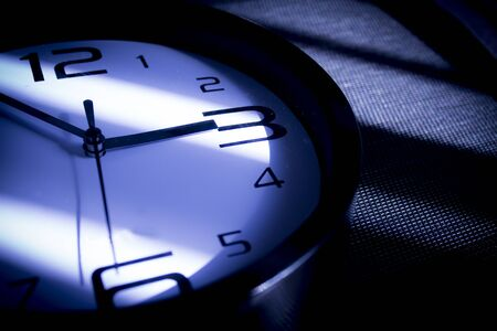 Very required and crisp picture of a clock. Stock Photo