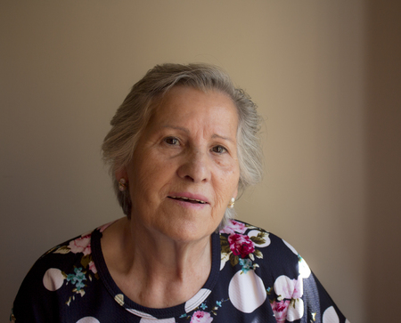 eighty: Eighty year old woman smiling