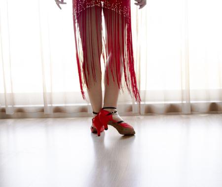 Woman dancing latin rhythms