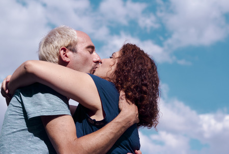 Man and woman kissing. Expression of love