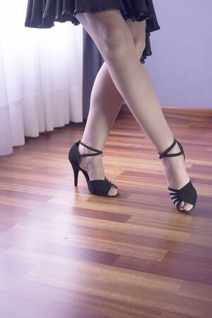 Dancer legs in high heels