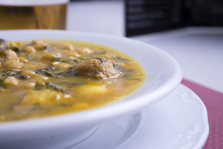 shabbat: White dish with stew prepared for eating