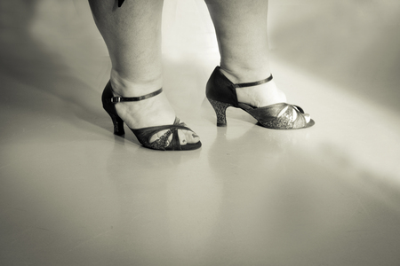 Woman dancing with salsa sandals