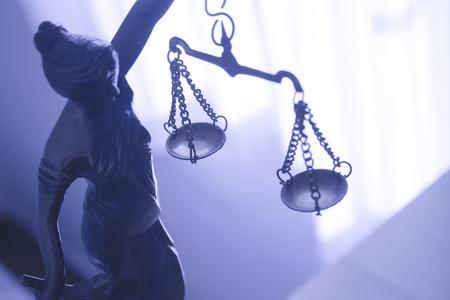 Statua in metallo simbolo di giustizia Themis. Questa figura non ha autore specifico, non è necessaria alcuna liberatoria.