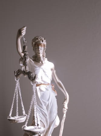 White female statue symbol of justice Themis. This figure has not specific author, no model release needed. Stock Photo