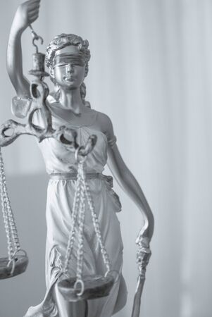White female statue symbol of justice Themis. This figure has not specific author, no model release needed.
