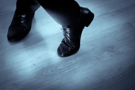 Feet dancer dancing salsa. Copy space 版權商用圖片