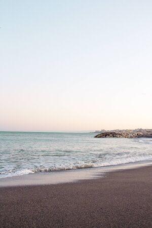 Beautiful sunset on the beach. No people