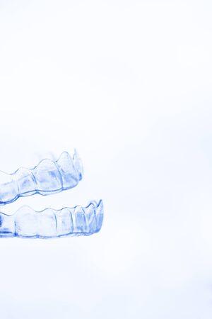 Transparent dental aligner. Top and bottom Standard-Bild