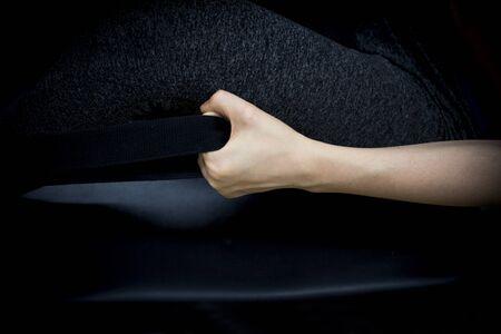 Woman doing pilates machine exercises