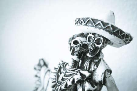 Standard skull figures. Halloween night. No people