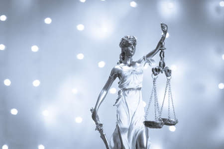 Legal office of lawyers and attorneys legal bronze model statue of Themis goddess of justice. This statue has no specific author. No need model release