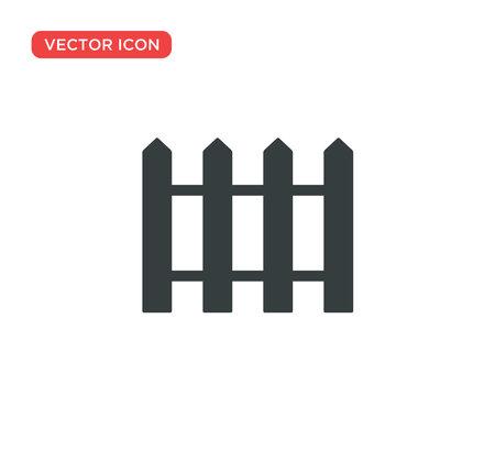 Fence Icon Vector Illustration Design Editable Resizable EPS 10