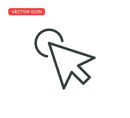 Pointer Cursor Icon Vector Illustration Design Editable Resizable