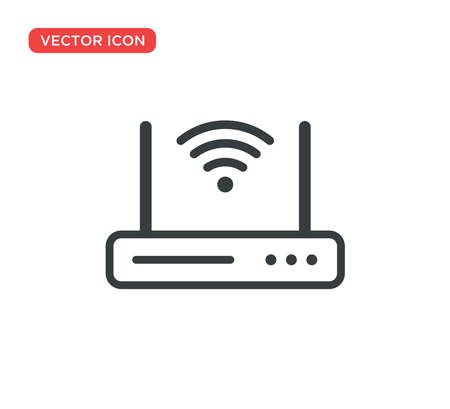 Wifi Router Icon Vector Illustration Design Editable Resizable EPS 10