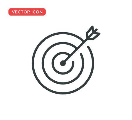 Target Icon Vector Illustration Design Editable Resizable EPS 10