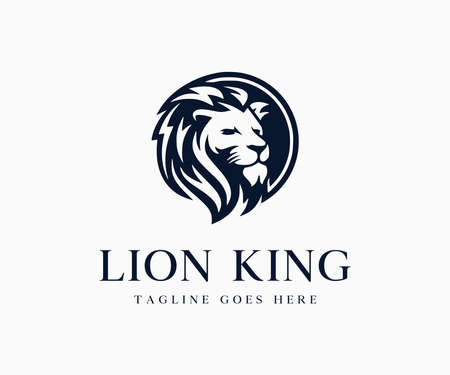 Luxury King Lion Logo Icon Vector Illustration Template Design Editable Resizable